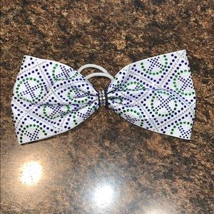 Accessories - White Bow with Bling